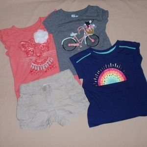 Hanna Andersson Shorts 3 Summer T-Shirts Tops 3t